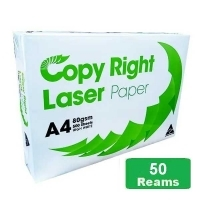 Copy Right Laser A4 White 80gsm Copy Paper B(10bxs:50reams)