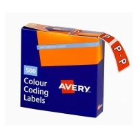 Avery Coding Label Alpha BX500 43216 (P) 25x38mm Dk Orange