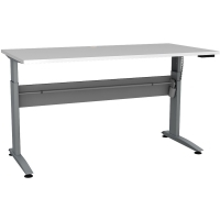 CONSET 501-15 ELECTRIC DESK Silver Frame White Top 1500x800mm
