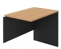 OM Desk Open Return RHS 900x600mm Beech/Charcoal