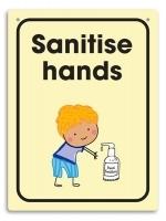 Durus Hygiene Wall Sign - Sanitise hands