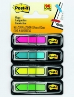 3M Post It Flags Mini 684-ARR4 Arrows Bright colours 4pack