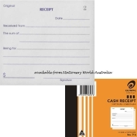 Cash Receipt Book Duplicate 125x100 50LF Carbonless Olympic 714