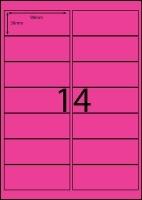 Rediform Colour Labels A4 Bx100 (14/sh) 98x38 Flouro Pink