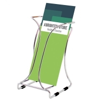 Deflecto Brochure Holder DL Chrome Single Tier 78545