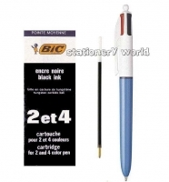 BIC Pen Refilll 2094 BLACK - to suit 2colour/4colour pens