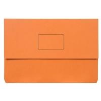Marbig Slimpick Document Wallet Manilla Foolscap 4004006 ORANGE