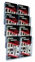 Deflecto Brochure Holder Lit-Loc Wall Display A4 x8