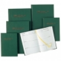 Collins 2020-2021 Financial Year Diary 24M4 A4 2Days 1Hr Green