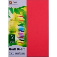 Quill Board A4 210gsm 90310 Pack 50 - Red