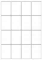 Custom Label 451 A4 BX100 16/sheet White 48x71