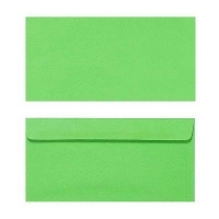 Quill Envelope 80gsm DL 110x220 Pack 25 - Lime