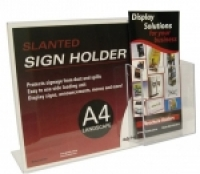 Deflecto Sign Holder A4 Landscape + DL pocket 699101P