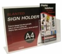 Deflecto Sign Holder A4 Landscape + DL pocket 699101P