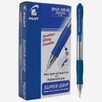 Pilot Supergrip Retractable Pen BPGP10R 1.0 Med.Blue BX12