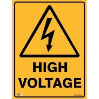 SAFETY SIGN - High Voltage 450mmx600mm Metal