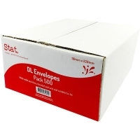 Stat Envelope 110x220 DL PNS Secretive White Box of 500