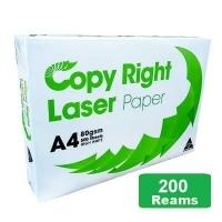 Copy Right Laser A4 White 80gsm Copy Paper E(40bxs:200reams)