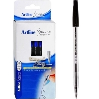 Artline Smoove Ballpoint Stick Pens 1.0mm BX50 Medium Black