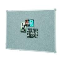 Quartet Penrite Fabric Pinboard Silver Silver 1800x1200