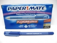 Papermate Flexgrip Ultra Pens Capped BX12 Med Blue