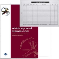 Zions Vehicle Log & Expenses Book SBE10 A5 Duplicate Carbonless