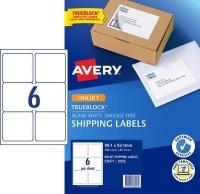 Avery TrueBlock Internet Shipping Labels J8166 6/sh PK25
