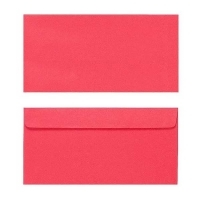 Quill Envelope 80gsm DL 110x220 Pack 25 - Red