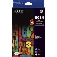 Epson 802XL 3 Colour (CMY) Ink Cartridge Value Pack