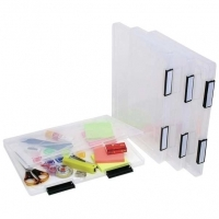 Marbig Plastic File Carry Case With Clip Labels Clear A4 22001