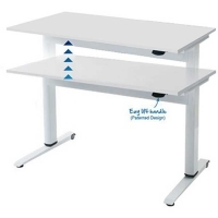 Airo Height Adjustable Desk 1800X800 White Top