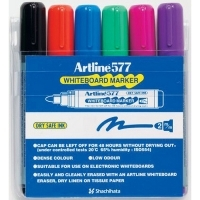 Artline Whiteboard Marker 577 Wallet 6 Asstd