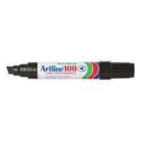 Artline 100 Marker Permanent Large Chisel Point Black