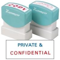 XSTAMPER STAMP - Private & Confidential (2 colour) 2010(5020100)