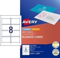 Avery Quick Clean Business Cards C32015 Inkjet Matte Pk200