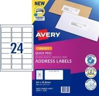 Avery Inkjet Label J8159 PK25 24/sheet