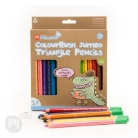 Micador jR. ColouRush Jumbo Triangle Pencils Pack of 12
