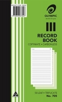 Record Book Triplicate 200x125 Carbonless Olympic 705