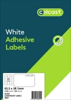 CELCAST Labels 48021 BX100 21/sheet 63.5x38.1mm