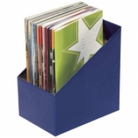 Marbig Book Boxes 8005801 Large: 170Wx250Dx270H (mm) Pkt5 Blue
