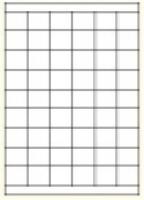 Custom Label 457 A4 BX100 54/sheet White 35x30