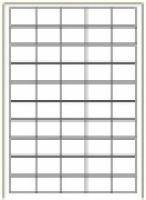 Custom Label 456 A4 BX100 50/sheet White 38x25.4