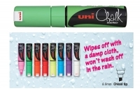 Uniball Liquid Chalk Marker 8mm PWE8KFLGN Chisel  Fluoro Green