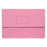Marbig Slimpick Document Wallet Manilla Foolscap 4004009 PINK