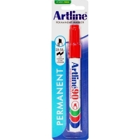 Artline 90 Marker Permanent Medium Chisel HANGSELL Red