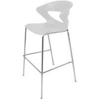 Rapidline Taurus Stacking Bar Stool White