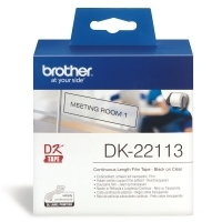 Brother DK22113 Clear Film Roll  Continuous 2mm x 15.24Mt