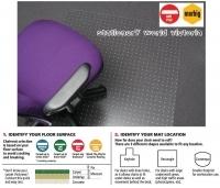 Marbig Chairmat Tuffmat Polycarbonate 87192 Key Small 90x120cm