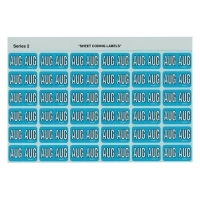 Avery Coding Label Month PK180 43408 (AUG) 25x38mm L Blue