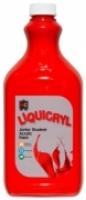 Liquicryl Junior Student Acrylic Paint 2L Brilliant Red